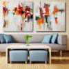 Happy Art Canvas Oil Painting Colorful Leaf Hand Painted - COLORFUL