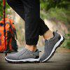Plus Size Outdoor Slip-on Hiking Shoes for Men - DEEP GRAY