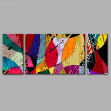 YHHP 3PCS Art Hand Painted Modern Abstract Oil Paintings
