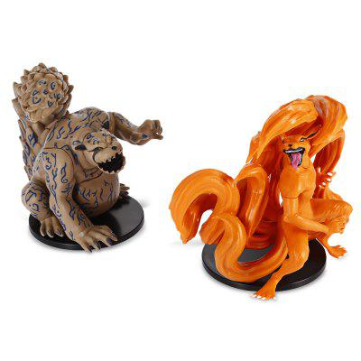 PVC Japanese Cartoon Tailed Animal Model 2pcs / setMovies &amp; TV Action Figures<br>PVC Japanese Cartoon Tailed Animal Model 2pcs / set<br><br>Completeness: Finished Goods<br>Gender: Unisex<br>Materials: PVC<br>Package Contents: 2 x Model ( with Mount )<br>Package size: 15.00 x 7.00 x 12.00 cm / 5.91 x 2.76 x 4.72 inches<br>Package weight: 0.5110 kg<br>Product weight: 0.4850 kg<br>Stem From: Japan<br>Theme: Animals,Movie and TV