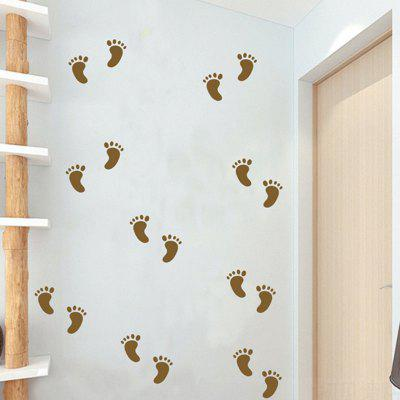 Buy BROWN AY 362 Creative DIY Little Feet Wall Sticker 30pcs for $6.51 in GearBest store