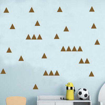 Buy BROWN AY 364 Creative DIY Triangle Wall Sticker 32pcs for $5.85 in GearBest store