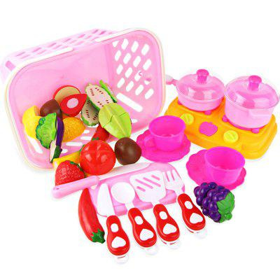 26pcs Cutting Fruit Vegetable Plastic Pretend Play ToyPretend Play<br>26pcs Cutting Fruit Vegetable Plastic Pretend Play Toy<br><br>Age: 3 Years+<br>Applicable gender: Unisex<br>Design Style: Other<br>Features: Educational<br>Material: Plastic<br>Package Contents: 1 x Pretend Play Toy Set<br>Package size (L x W x H): 27.00 x 18.00 x 15.00 cm / 10.63 x 7.09 x 5.91 inches<br>Package weight: 0.6850 kg<br>Product weight: 0.6400 kg<br>Small Parts : Yes<br>Type: Intelligence toys<br>Washing: Yes