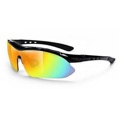 Multifunctional Protective 5pcs Polarized Lens Cycling Glasses