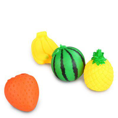 5PCS Fruit Style Vinyl Sound ToyPretend Play<br>5PCS Fruit Style Vinyl Sound Toy<br><br>Age: 2 Years+<br>Applicable gender: Unisex<br>Design Style: Other<br>Features: Educational<br>Material: Vinyl<br>Package Contents: 5 x Sound Toy<br>Package size (L x W x H): 10.00 x 9.00 x 10.00 cm / 3.94 x 3.54 x 3.94 inches<br>Package weight: 0.1720 kg<br>Product size (L x W x H): 8.00 x 7.00 x 8.00 cm / 3.15 x 2.76 x 3.15 inches<br>Product weight: 0.0300 kg<br>Small Parts : Yes<br>Type: Intelligence toys<br>Washing: No