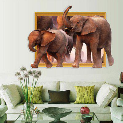DSU 3D Elephant Pattern Removable Sticker