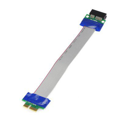PCI-E 6-pin 1X Riser Card Flexible Extender CablePCI Cards<br>PCI-E 6-pin 1X Riser Card Flexible Extender Cable<br><br>Material: Plastic<br>Package Contents: 1 x PCI-E 6-pin 1X Extension Cable Riser Card<br>Package size (L x W x H): 22.00 x 5.00 x 1.50 cm / 8.66 x 1.97 x 0.59 inches<br>Package weight: 0.0350 kg<br>Product size (L x W x H): 20.70 x 3.50 x 0.50 cm / 8.15 x 1.38 x 0.2 inches<br>Product weight: 0.0180 kg