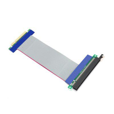 PCI Express 16x Extender Riser Adapter for Bitcoin / LitecoinPCI Cards<br>PCI Express 16x Extender Riser Adapter for Bitcoin / Litecoin<br><br>Material: Plastic<br>Package Contents: 1 x PCI-E 16x Powered Riser GPU Adapter Cable<br>Package size (L x W x H): 21.00 x 11.00 x 2.00 cm / 8.27 x 4.33 x 0.79 inches<br>Package weight: 0.0600 kg<br>Product size (L x W x H): 19.50 x 10.00 x 1.00 cm / 7.68 x 3.94 x 0.39 inches<br>Product weight: 0.0430 kg