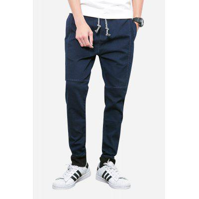 Men Casual Leisure Pants in Solid Color