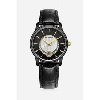 Water-resistant Female Watch with Genuine Leather Band