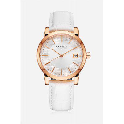 Fashion Classic Water-resistant Watch with Genuine Leather Band