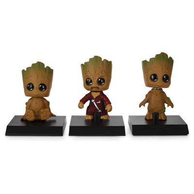 Cute Head Shaking Tree Elf Model 3pcs / set