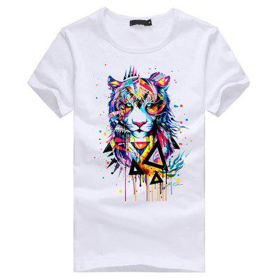 3D Tiger Pattern Short Sleeves T-shirt for Men