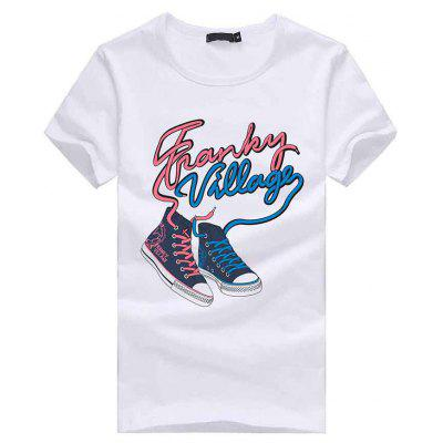 3D Shoes Pattern Short Sleeves T-shirt for Men