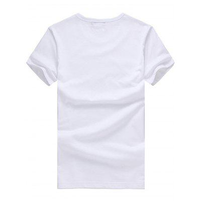Cat Pattern Short Sleeves T-shirt for MenMens Short Sleeve Tees<br>Cat Pattern Short Sleeves T-shirt for Men<br><br>Fabric Type: Cotton<br>Neckline: Round Collar<br>Package Content: 1 x T-shirt<br>Package size: 26.00 x 20.00 x 1.00 cm / 10.24 x 7.87 x 0.39 inches<br>Package weight: 0.2400 kg<br>Product weight: 0.2000 kg<br>Season: Summer<br>Sleeve Length: Short Sleeves