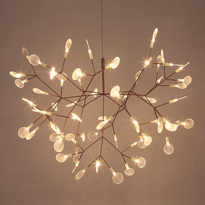 Art Creative Leaf Firefly  LED Chandelier 220VChandelier<br>Art Creative Leaf Firefly  LED Chandelier 220V<br><br>Battery Included: No<br>Bulb Base: 2835<br>Bulb Included: No<br>Chain / Cord Length ( CM ): 100<br>Features: Multi-shade<br>Fixture Height ( CM ): 35<br>Fixture Length ( CM ): 50<br>Fixture Width ( CM ): 35<br>Light Direction: Ambient Light<br>Number of Bulb: More than 20 Bulbs<br>Number of Bulb Sockets: More Than 20<br>Package Contents: 1 x Chandelier,1 x Assembly Parts<br>Package size (L x W x H): 60.00 x 45.00 x 40.00 cm / 23.62 x 17.72 x 15.75 inches<br>Package weight: 5.0200 kg<br>Product weight: 4.0000 kg<br>Shade Material: Acrylic, Stainless Steel<br>Style: Modern/Contemporary<br>Suggested Room Size: 10 - 15?<br>Suggested Space Fit: Bedroom,Dining Room,Living Room,Study Room<br>Type: Chandeliers<br>Voltage ( V ): 220V<br>Wattage (W): 9