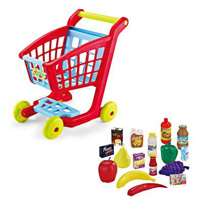 Plastic Supermarket Shopping Cart SetPretend Play<br>Plastic Supermarket Shopping Cart Set<br><br>Age: 3 Years+<br>Applicable gender: Unisex<br>Design Style: Other<br>Features: Educational<br>Material: Plastic<br>Package Contents: 1 x Pretend Play Toy Set<br>Package size (L x W x H): 55.00 x 51.00 x 75.50 cm / 21.65 x 20.08 x 29.72 inches<br>Package weight: 1.1300 kg<br>Product weight: 1.0500 kg<br>Small Parts : Yes<br>Type: Intelligence toys<br>Washing: Yes
