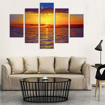 5PCS Sunset Printing Canvas Wall Decoration
