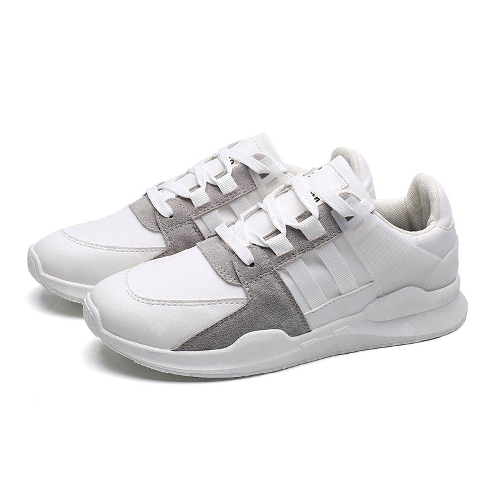 Comfortable Breathable Jogging Sneakers Men 42 WHITE
