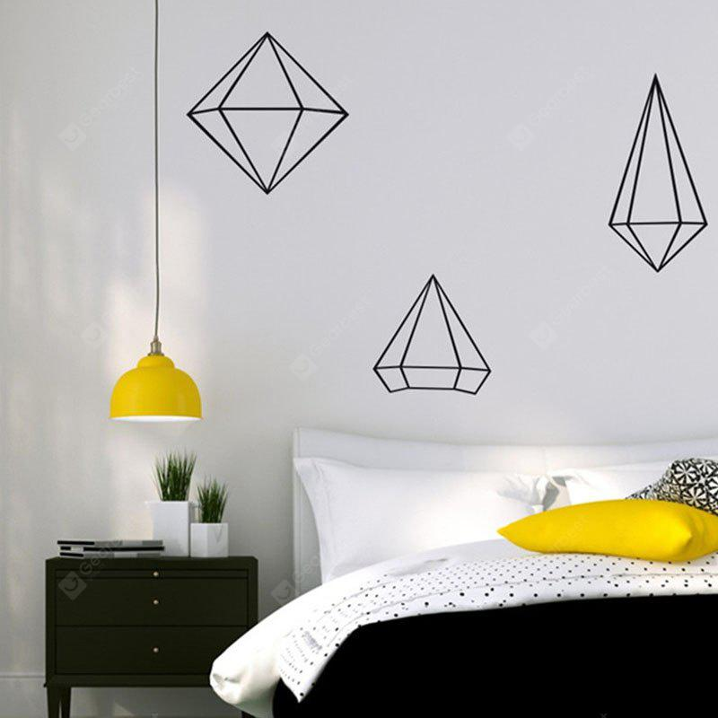 AY - 368 Creative DIY Geometric Style Wall Sticker BLACK