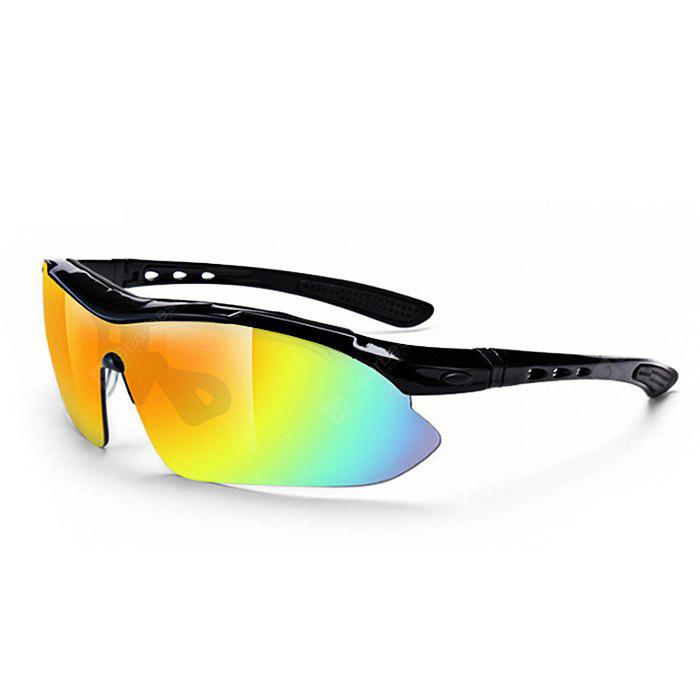 BLACK Multifunctional Protective 5pcs Polarized Lens Cycling Glasses