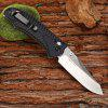 GANZO FIREBIRD F710 Portable Axis Locking Foldable Camping Hunting Knife 440C Stainless Steel Blade - BLACK