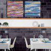Happy Art YHHP Pintura a óleo Modern Canvas Abstract Style Decoration - COLORIDA