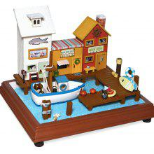 Miniature Wooden Seaside Vacation Doll House DIY Kit