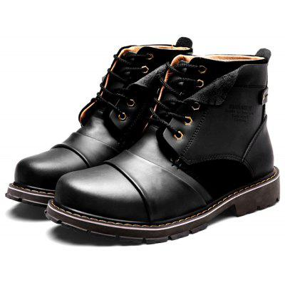 Men Comfortable Leather Medium Top Martin Boots