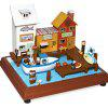 Miniature Wooden Seaside Vacation Doll House DIY Kit - COLORMIX