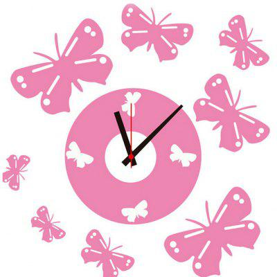 Bowknot Style Wall Clock Sticker