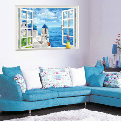 DSU 3D Aegean Sea Design Removable Sticker
