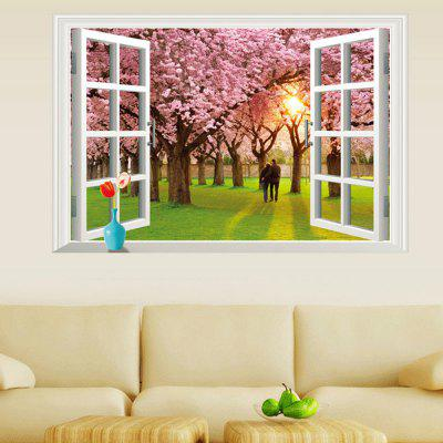 DSU PVC 3D Window Shape Landscape Sticker