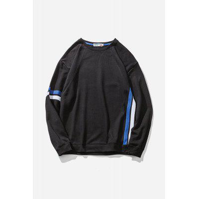 Men Fashion Round Collar Long Sleeve Sports Sweatshirt