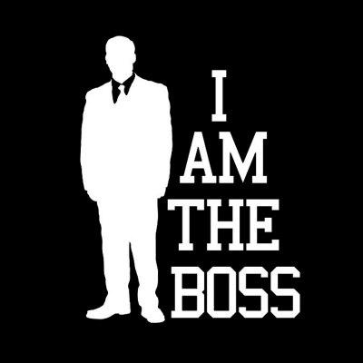 10 x 13.1CM Car Styling Decorative Decal with I Am The Boss Pattern