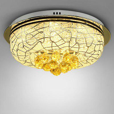 Modern Warm Crystal Round LED Ceiling Lamp 220V