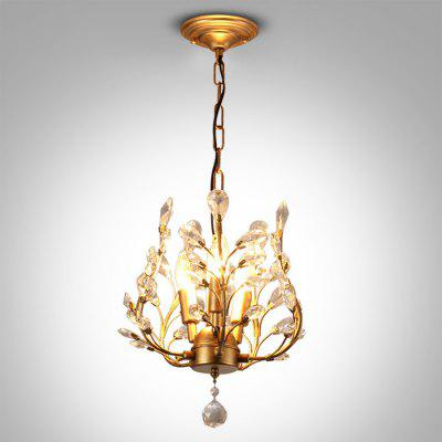 YQ1004 E12 x 3 Crystal Iron Pendant Light 110V