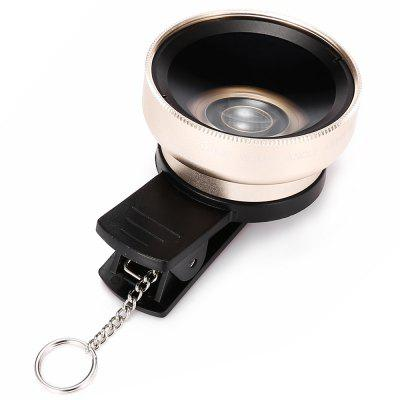 Topaul MSPG001 0.45X Super Wide Angle Macro Phone Lens 3 in 1 fish eye macro wide angle clip lens white black