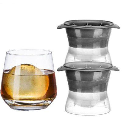 2pcs Gray Spherical Ice Cube Mould
