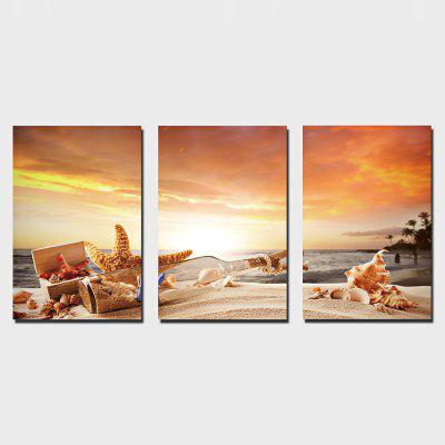 YSDAFEN 3PCS Drift Bottle Printing Canvas Wall Decoration