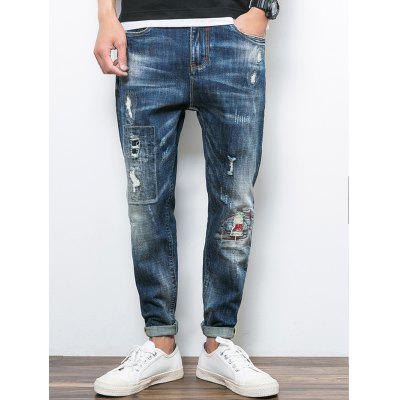 Casual Leisure Fashionable Ripped Jeans