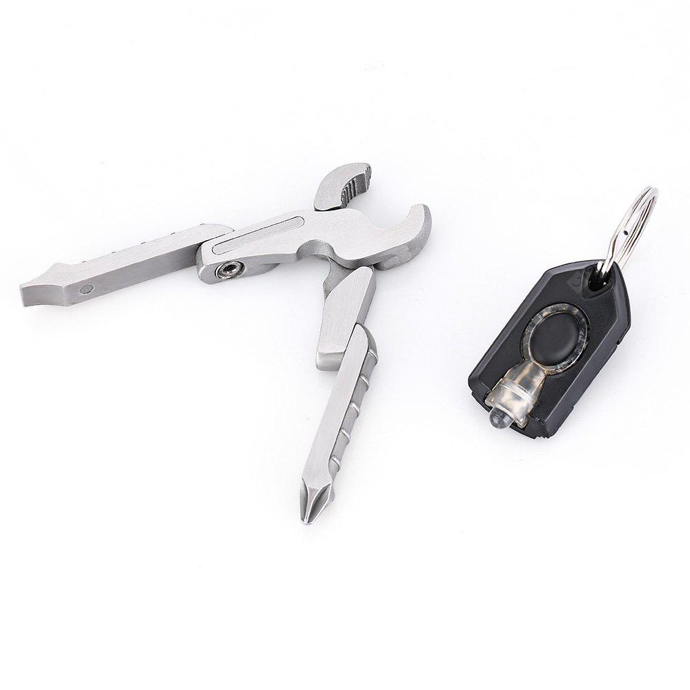Mini Multifunctional Folding Pliers Screwdriver with LED Light