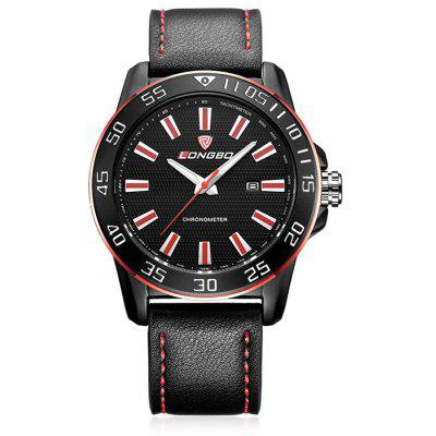 Buy BLACK AND RED LONGBO Male Luminous Quartz Watch with Date Calendar for $19.08 in GearBest store