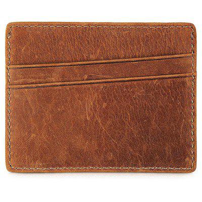 Men Minimalist RFID Blocking Leather Card Wallet