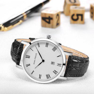 MINI FOCUS Male Genuine Leather Band Quartz WatchMens Watches<br>MINI FOCUS Male Genuine Leather Band Quartz Watch<br><br>Band material: Genuine Leather<br>Band size: 24.5 x 2.1cm<br>Brand: MINI FOCUS<br>Case material: Alloy<br>Clasp type: Pin buckle<br>Dial size: 3.8 x 3.8 x 0.75cm<br>Movement type: Quartz watch<br>Package Contents: 1 x Watch<br>Package size (L x W x H): 25.50 x 4.80 x 1.75 cm / 10.04 x 1.89 x 0.69 inches<br>Package weight: 0.0810 kg<br>Product size (L x W x H): 24.50 x 3.80 x 0.75 cm / 9.65 x 1.5 x 0.3 inches<br>Product weight: 0.0410 kg<br>Shape of the dial: Round<br>Watch style: Business<br>Watches categories: Men