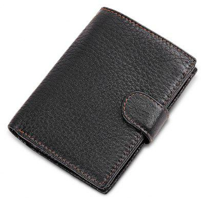 Men Vintage Look Trifold Leather Wallet
