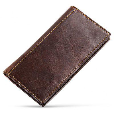 Stylish RFID Blocking Long Bifold Leather Wallet for Men
