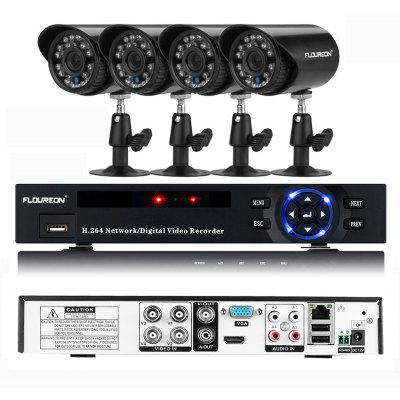 Gearbest FLOUREON P4-E4004H-US DVR and IR-CUT Camera Security Kit