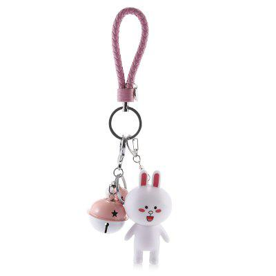 Rotatable Head Cute Cartoon Rabbit Key ChainKey Chains<br>Rotatable Head Cute Cartoon Rabbit Key Chain<br><br>Design Style: Fashion<br>Gender: Girls<br>Materials: Metal, PVC<br>Package Contents: 1 x Key Ring<br>Package size: 8.00 x 5.00 x 10.00 cm / 3.15 x 1.97 x 3.94 inches<br>Package weight: 0.0810 kg<br>Product weight: 0.0600 kg<br>Stem From: Europe and America<br>Theme: Animals