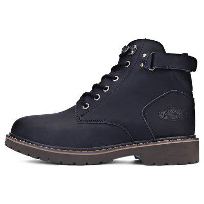 Men Fashion High Top Leather Ankle Boots